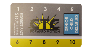 image of senior ride card